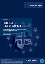BUDGET STATEMENT 2020 THE KEY ANNOUNCEMENTS FOR INDIVIDUALS, BUSINESSES AND EMPLOYERS